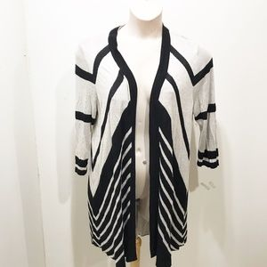 Chicos Size 3 Duster Cardigan Size L XL Chevron